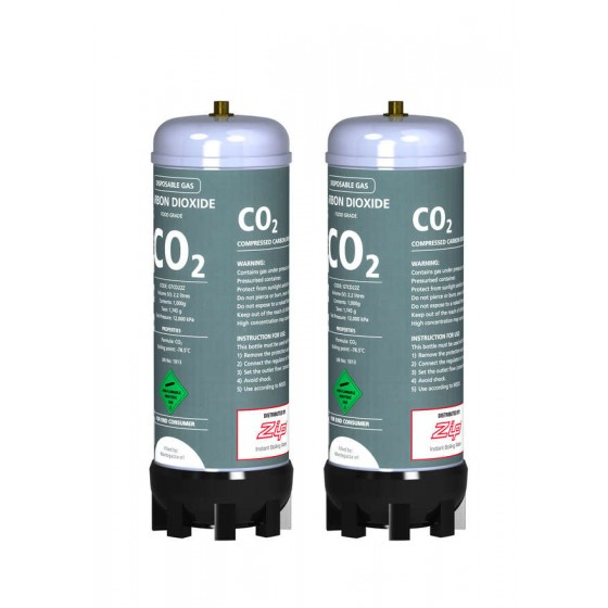 ZIP Sparkling Replacement Cartridges (2 X 1kg/2.2L Tanks) 91295