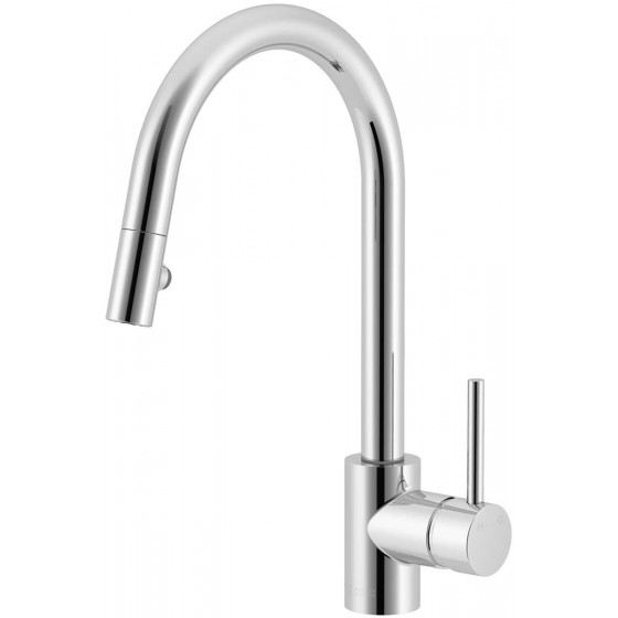 Abey Lucia Pull Out Spray Goose Neck Mixer Tap SK5-2