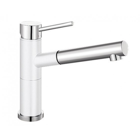 Blanco White 128° Swivel Spout Pull Out Mixer Tap ALTASW