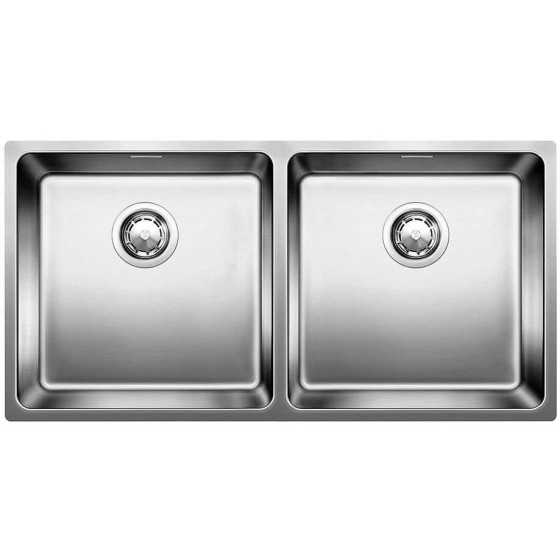 Blanco Double Bowl Inset/Flushmount With Overflow Sink AND400/400IFNK5