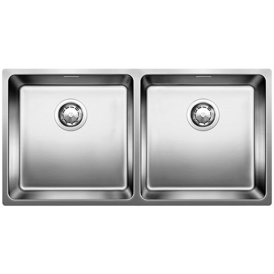 Blanco Double Bowl Undermount Sink With Overflow ANDANO400/400UK5