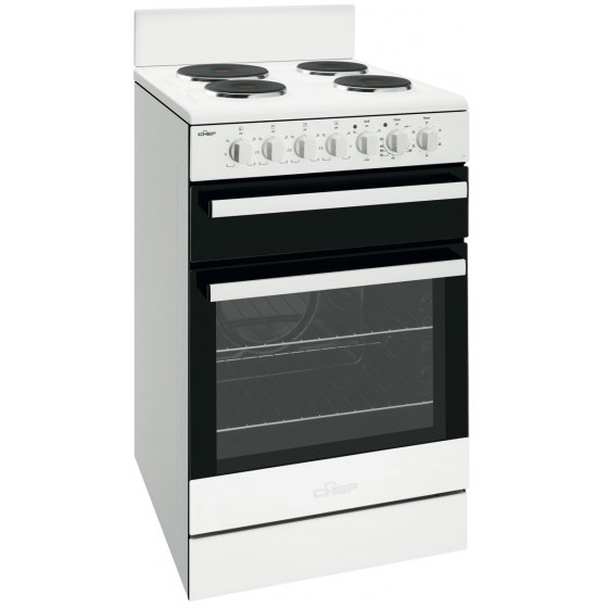 Chef 54cm Electric Freestanding Oven/Stove CFE535WB
