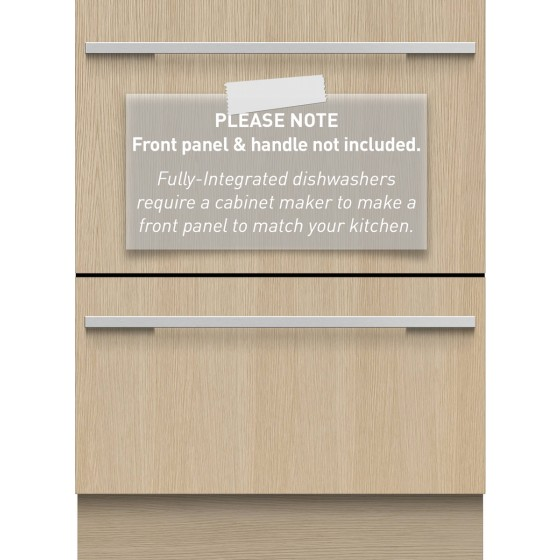 Fisher & Paykel 60cm Fully Integrated Double DishDrawer Dishwasher DD60DI9