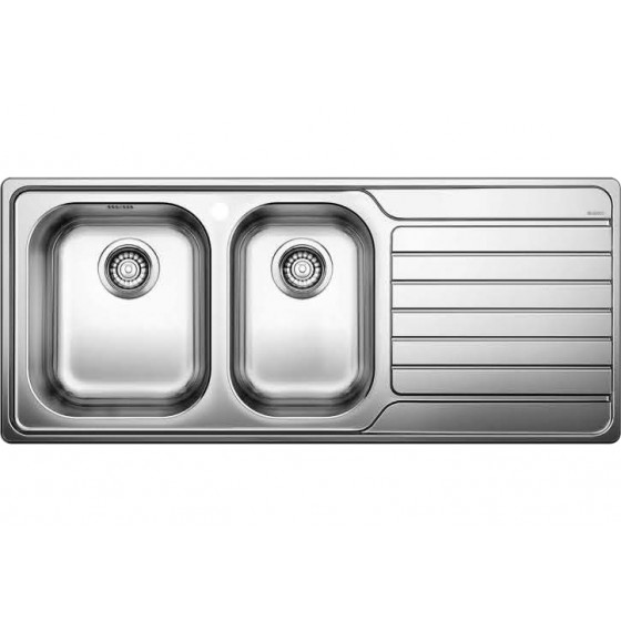 Blanco 1 & 3/4 Double Left Hand Bowl Inset Sink With Drainer DINAS8S175LK