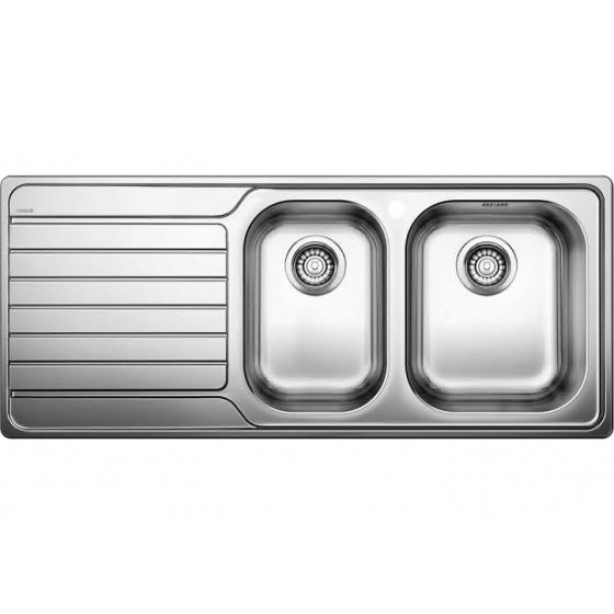 Blanco 1 & 3/4 Double Right Hand Bowl Inset Sink With Drainer DINAS8S175RK