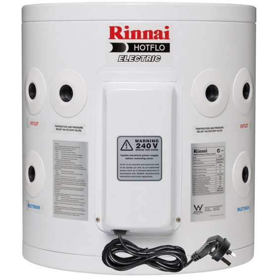 Rinnai HotFlo 25L 2.4kW Electric Hot Water Storage Tank With Plug EHF25S24P