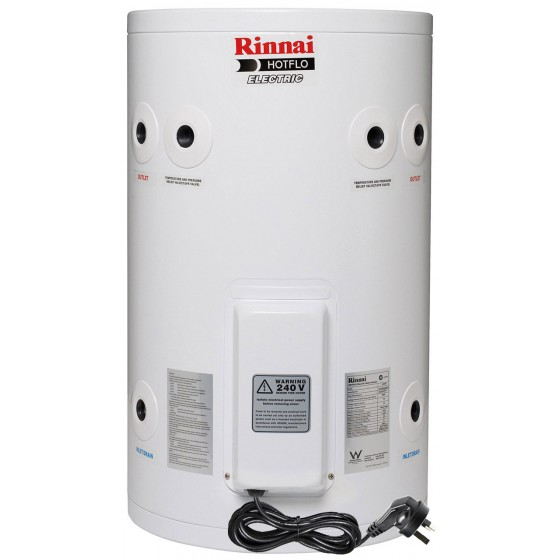 Rinnai HotFlo 50L 2.4kW Electric Hot Water Storage Tank With Plug EHF50S24P