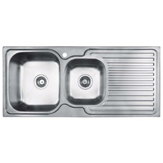 Abey 1 & 3/4 Entry Double Bowl Inset Sink EN175L