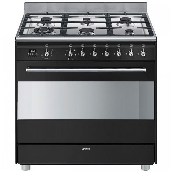 Smeg 90cm 126L Freestanding Dual Fuel Oven/Stove FS9608AS