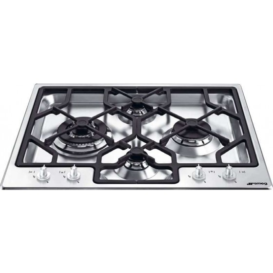 Smeg 60cm Stainless Steel Gas Cooktop PGA64