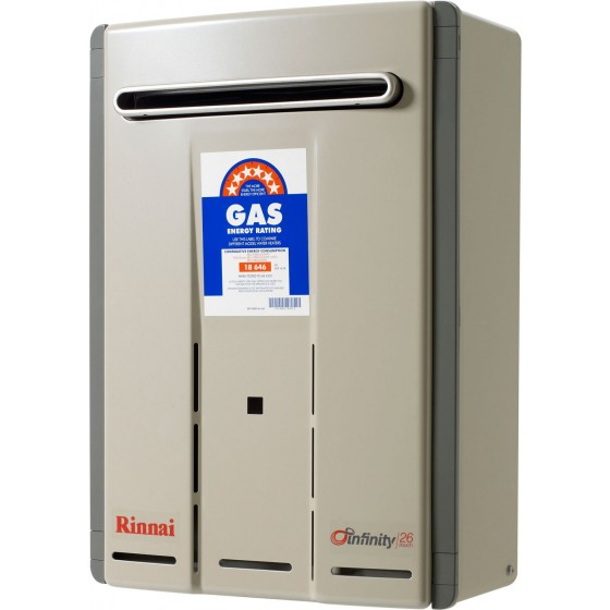 Rinnai Infinity Touch 60°C 26L Instant Hot Water System INF26TL60MA *LPG GAS*