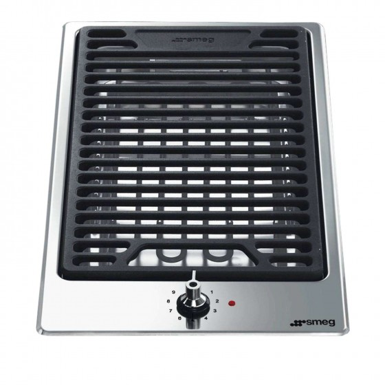 Smeg 30cm Domino-Style Ultra Low Profile Electric BBQ Stone Grill PGF30B