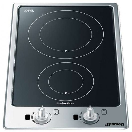 Smeg 30cm Domino-Style Induction Black Ceramic Glass Induction Cooktop PGF32I-1