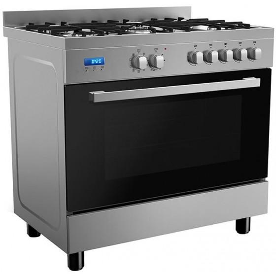 InAlto 90cm 112L Dual Fuel Freestanding Oven/Stove RU9EGB