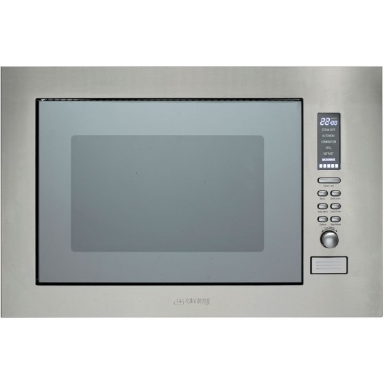 Smeg 25L Built-In Wall Convection Microwave SBIM30X-1