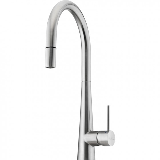Oliveri Essente Goose Neck Pull Out Mixer Tap SS2525