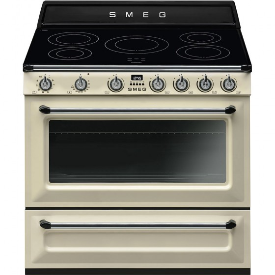 Smeg 90cm 126L Victoria Induction Freestanding Electric Oven/Stove TR90IP9