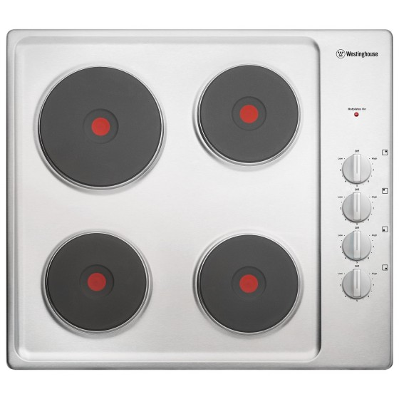 Westinghouse 60cm Solid Element Stainless Steel Electric Cooktop WHS642SC