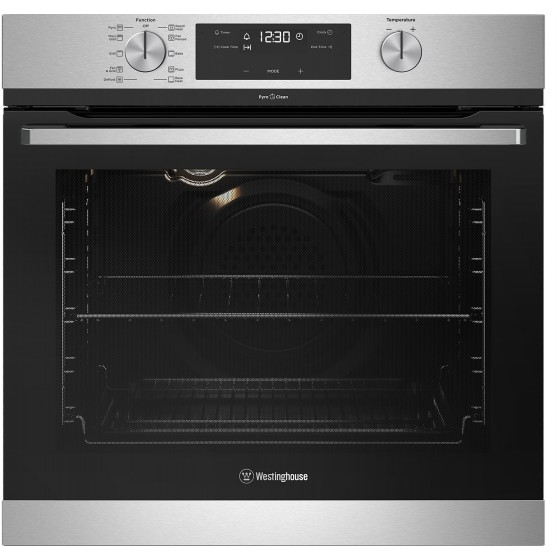 Westinghouse 60cm 80L Pyrolytic Electric Wall Oven WVEP615SC