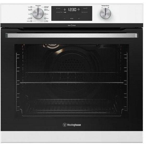 Westinghouse 60cm 80L Pyrolytic Electric Wall Oven WVEP615WC