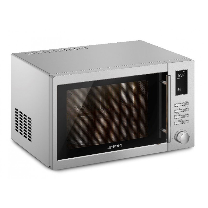 Smeg 34l Microwave With Grill Sa34mx Convection