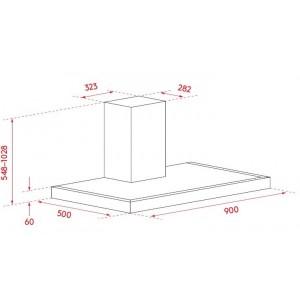 Airvolution 90cm Box Canopy Rangehood ARBC90TBS