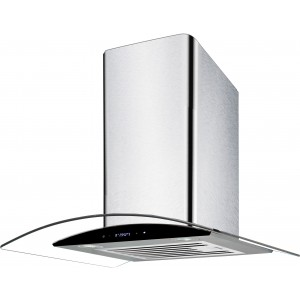 Airvolution 60cm Curved Glass Canopy Rangehood ARGC60BTS