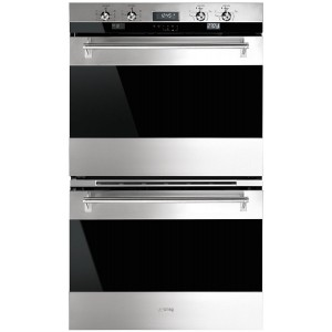 Smeg 76cm 130L Classic Double Pyrolytic Electric Wall Oven DOA330X1