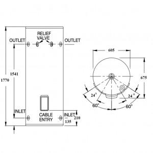 Rinnai HotFlo 315L 3.6kW Hardwired Electric Hot Water Storage Tank EHFA315S36