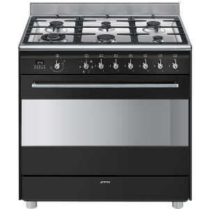 Smeg 90cm 126L Freestanding Dual Fuel Oven/Stove FS9608AS