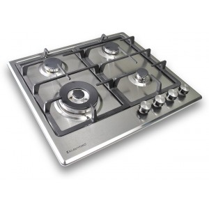 Kleenmaid 60cm Stainless Steel Gas Cooktop GCT6012