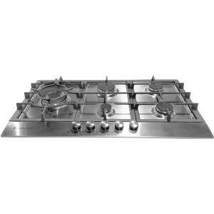 Kleenmaid 90cm Stainless Steel Gas Cooktop GCT9012