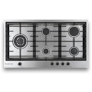 Kleenmaid 90cm Stainless Steel Gas Cooktop GCT9030