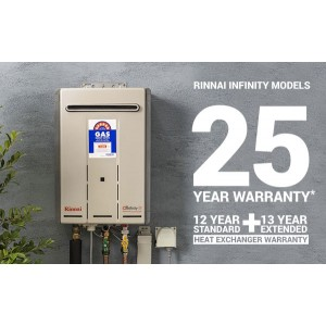 Rinnai Infinity Touch 50°C 26L LPG Gas Instant Hot Water System INF26TL50MA