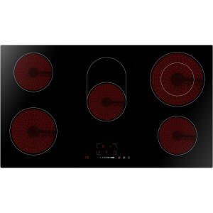 Omega 90cm Black Ceramic Glass Electric Cooktop OCC90TZ