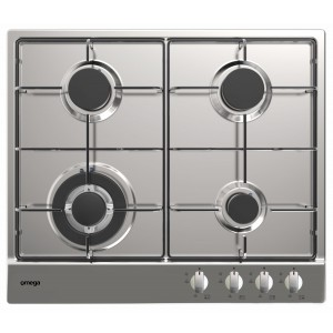 Omega 60cm Stainless Steel Gas Cooktop OCG60X