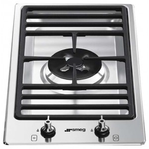Smeg 30cm Domino-Style Dual Control Single Stainless Steel Gas Cooktop PGA31G-1
