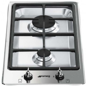 Smeg 30cm Domino-Style Stainless Steel Gas Cooktop PGA32G
