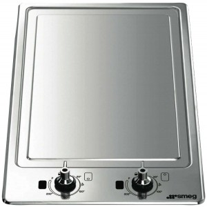 Smeg 30cm Domino-Style Teppanyaki Stainless Steel Induction Cooktop PGF30T-1
