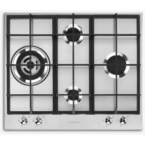 Smeg 60cm Stainless Steel Gas Cooktop PX364LAU