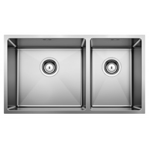 Blanco 1 & 1/2 Double Left Hand Bowl Undermount Sink QUATR1542IULK5