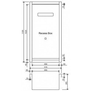 Rinnai RBOX02 Galvanised Fully Recessed Recess Box to Suit Infinity 32L Model