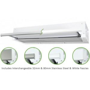 Robinhood 90cm Stainless Steel or White Slideout Rangehood RO91SS/WH/80