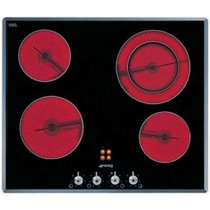 Smeg 60cm Black Ceramic Glass Electric Cooktop SA661X2