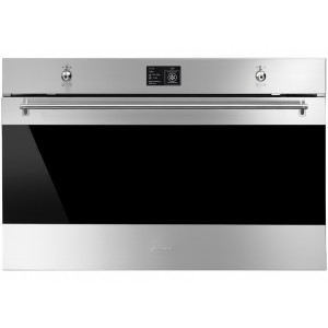 Smeg 90cm 126L Classic Thermoseal Pyrolytic Compact Electric Wall Oven SFP9395X1