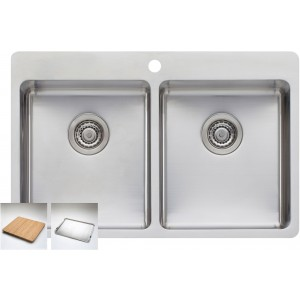 Oliveri Sonetto Double Bowl Inset Sink SN1064