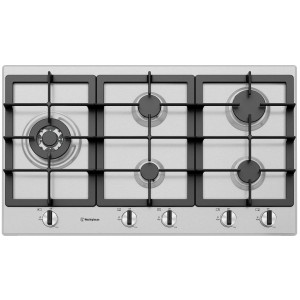 Westinghouse 90cm Stainless Steel Gas Cooktop WHG954SC