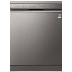 LG 60cm QuadWash Platinum Steel Freestanding Dishwasher XD5B14PS