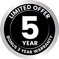 Chiq Bonus 2 Year Warranty Sticker
