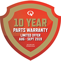 Speed Queen 10 Year Parts Warranty Sticker